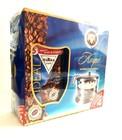 """Кофе растворимый с добавлением жареного молотого кофе,"""" MARkk CAFE IDEAL""""+ сахарница ,190 +10 гр"""