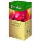 """ЧАЙ GREENFIELD (Гринфилд) """"SUMMER BOUQUET"""" (чайный напиток со вкусом и ароматом малины)25 ПАК."""