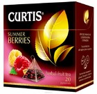 Чай CURTIS черный с кусочками ягод и фруктов с ароматом малины 20 пирамидок