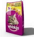 Корм для кошек сухой подушечки с паштетом из курицы и индейки ВИСКАС 1,2 кг