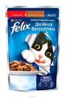 """Корм для кошек, аппетитные кусочки с говядиной и домашней птицей в желе """"FELIX"""" 85 гр"""