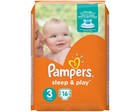 Подгузники Pampers sleep & play 5-9 кг -16 шт