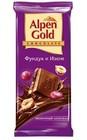 "Шоколад молочный ""Alpen Gold"", фундук и изюм, 90Г"