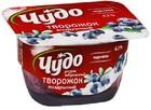 """Десерт творожный """"ЧУДО Воздушный творожок"""" черника,100 гр"""