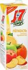 Сок J7 Тонус,легкость,персик,яблоко,апельсин,с пребиотиком, 1,45 л.