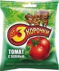 """Сухарики """"3 КОРОЧКИ"""" РЖАНЫЕ С ТОМАТОМ И ЗЕЛЕНЬЮ 100 гр."""