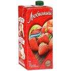 Сок Земляничное лето ( яблоко,черноплодная рябина,земляника,клубника) Любимый 0,95 л.