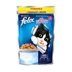 """Корм для котят, аппетитные кусочки с курицей в желе """"FELIX"""" 85 гр"""