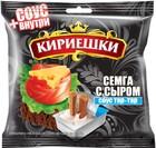"""""""Кириешки""""Сухарики ржаные соленые """" семга с сыром с соусом тар-тар.60 гр."""