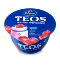 Йогурт греческий TEOS вишня Савушкин 140 гр