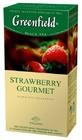 """ЧАЙ GREENFIELD (Гринфилд) """"STRAWBERRY GOURMENT"""".(черный чай с ароматом клубники и шоколада) 25 ПАК."""