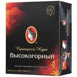 """Чай """"Принцесса Нури Высокогорный"""" черный 100 пакетиков с ярлычком."""