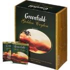 ЧАЙ ЧЕРНЫЙ БАЙХОВЫЙ ЦЕЙЛОНСКИЙ ТМ GREENFIELD (Гринфилд) ГОЛДЕН ЦЕЙЛОН, (100 ПАКЕТИКОВ ПО 2 Г)