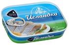 """Сельдь атлантическая """"Исландка"""" филе-кусочки в масле,115 гр."""