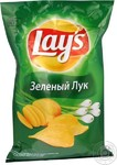 """Чипсы """"Лейз зеленый лук"""" 150г"""