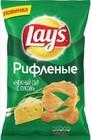 Чипсы Лейз 80 гр рифленые со вкусом нежного сыра с луком