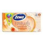Туалетная бумага Zewa DELUXE Cashmere Peach,(персик) 8 рул, 3 слоя