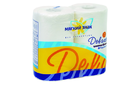 Туалетная бумага белая Мягкий знак Deluxe 4 рулона 2 слоя