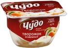 """Десерт творожный """"ЧУДО Воздушный творожок"""" персик -груша,100 гр"""