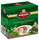 """Зеленый чай """"Майский"""" освежающая мелисса 20 пирамидок"""