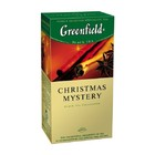 """ЧАЙ GREENFIELD """"CHRISTMAS MYSTERY"""" (черный чай с ароматом апельсина, корицы и лимона)25 ПАК."""