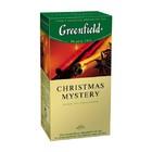 """ЧАЙ GREENFIELD (Гринфилд) """"CHRISTMAS MYSTERY"""" (черный чай с ароматом апельсина, корицы и лимона)25 ПАК."""