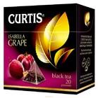 Чай CURTIS черный листовой с кусочками фруктов с ароматом винограда 20 пирамидок