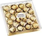 Конфеты хрустящие FERRERO ROCHER из молочного шоколада покрытые измельченными орешками,с начинкой из крема и лесного ореха.300 гр