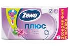Туалетная бумага Zewa Plus белая свежесть океана 4 рулона 2 слоя