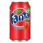 Fanta STRAWBERRY,(клубника) газированный напиток  0,33 л.
