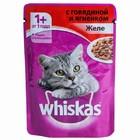 Корм для кошек с говядиной и ягненком желе ВИСКАС 85г