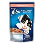 """Корм для кошек, аппетитные кусочки с лососем в желе """"FELIX"""" 85 гр"""