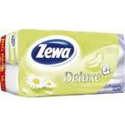 Туалетная бумага Zewa DELUXE CAMOMILE,(ромашка) 8 рул, 3 слоя